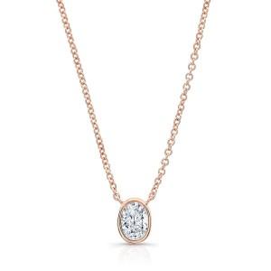 Norman Silverman Oval Diamond Pendant
