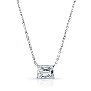 Norman Silverman Emerald Cut Diamond Pendant