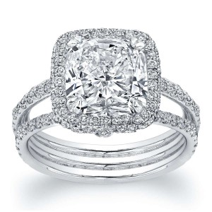 Norman Silverman Cushion Diamond Engagement Ring