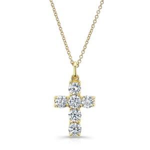 Norman Silverman Diamond Cross Pendant