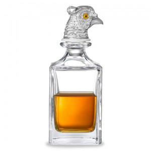Deakin & Francis Silver Pheasant Head Crystal Decanter