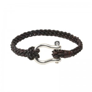 Vincent Peach Shackle Bracelet