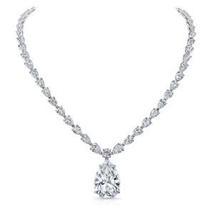 Norman Silverman Pear Diamond Necklace
