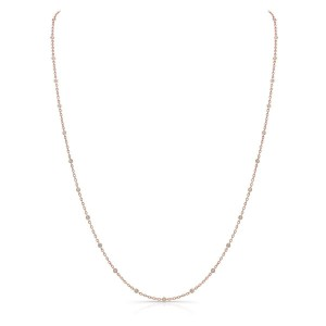 Norman Silverman Diamond By The Yard Rose Gold Necklace