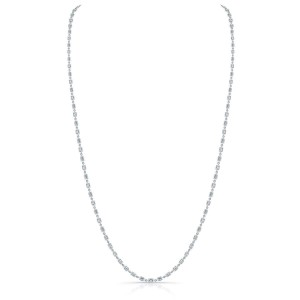 Norman Silverman Diamond By The Yard Emerald Necklace
