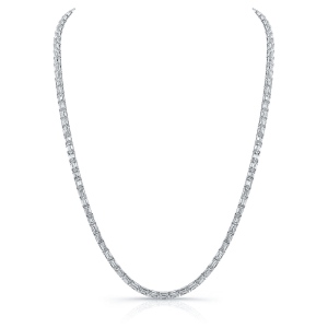 Norman Silverman East West Emerald Platinum Necklace