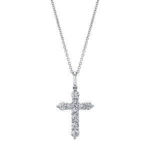 Norman Silverman Diamond Pendant Cross