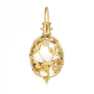 Temple St. Clair Yellow Gold Amulet Egg Pendant