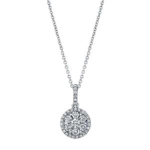 Norman Silverman Round Diamond Cluster Pendant