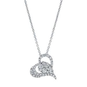Norman Silverman Heart Diamond Pendant