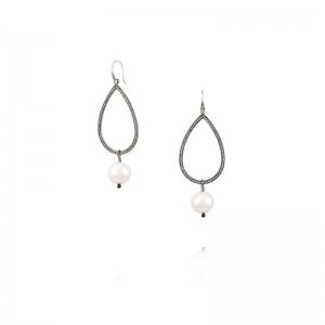 Vincent Peach Teardrop Earrings