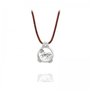 Vincent Peach Sterling Finnhorse Necklace