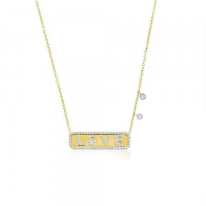 Meira T Love Plate Necklace