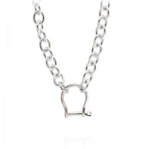 Vincent Peach Shackle Necklace