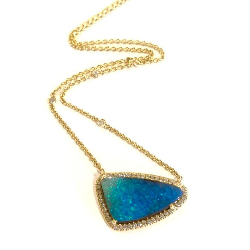 Lauren K Boulder Opal Freeform Layla Necklace