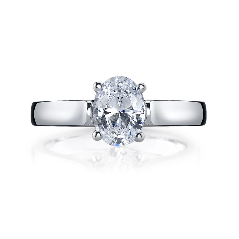 Deutsch Signature Oval Cut Solitaire Semi Mount