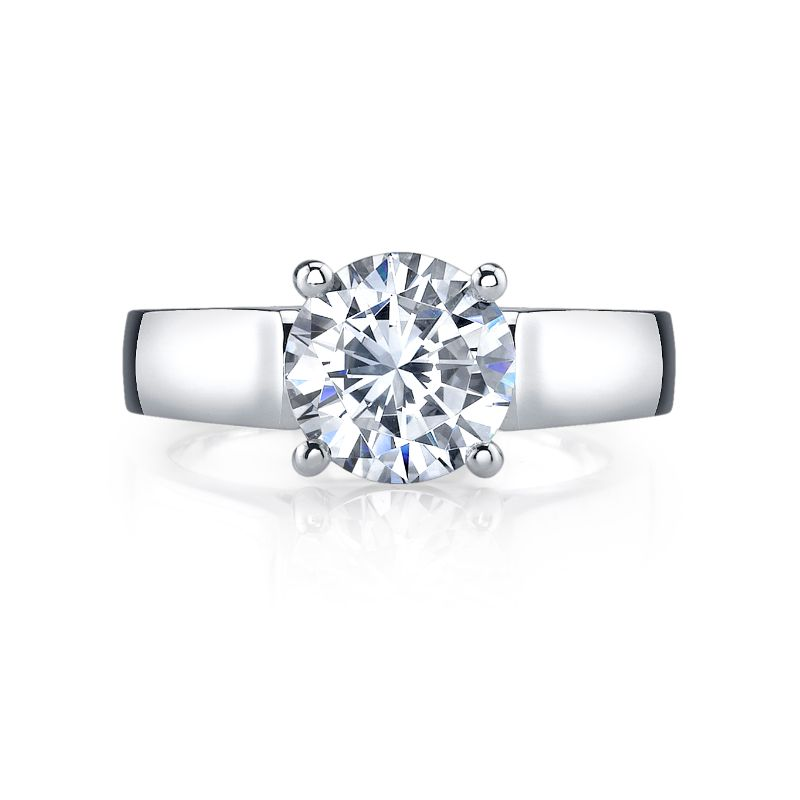 Deutsch Signature Round Cut Solitaire Semi Mount