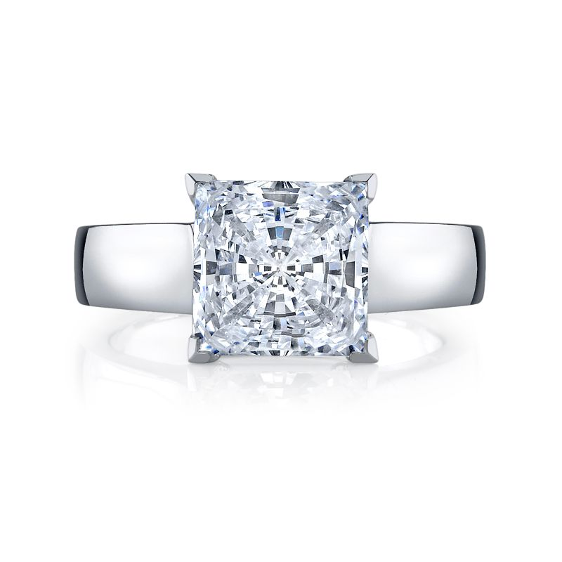 Deutsch Signature Princess Cut Solitaire Semi Mount
