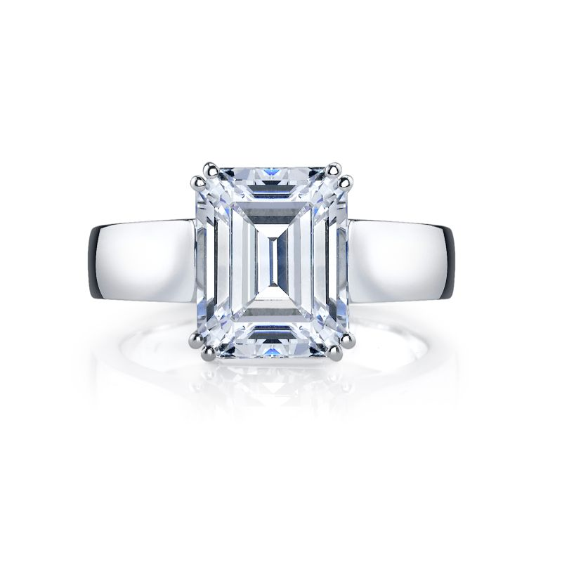 Deutsch Signature Emerald Cut Solitaire Semi Mount