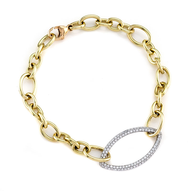 Rudolf Friedmann Gold Diamond Bracelet