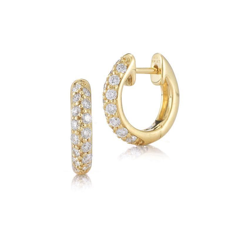 Kwiat Huggie Moonlight Diamond Earrings