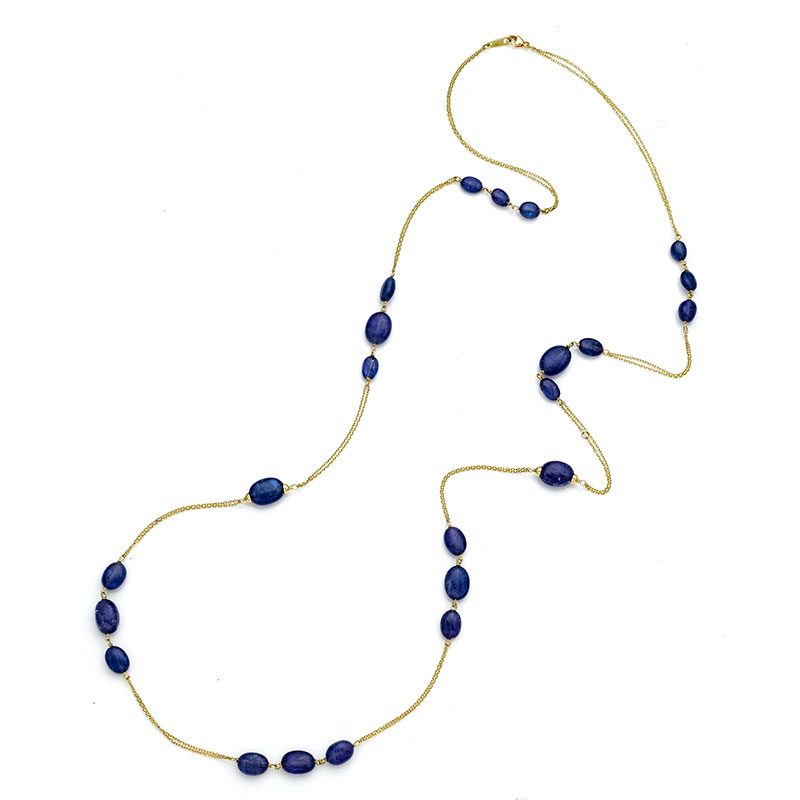 Rudolf Friedmann Gold Tanzanite Necklace