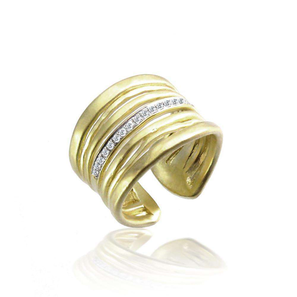 Meira T Yellow Gold Diamond Gold Ring