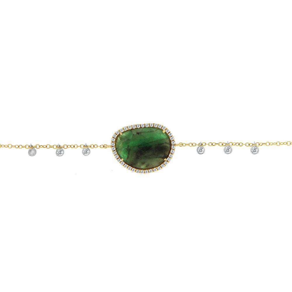 Meira T Emerald Halo Charm Bracelet