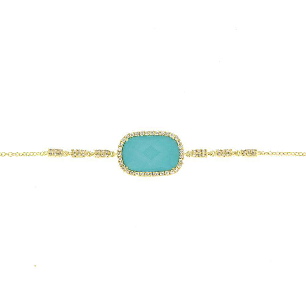 Meira T Turquoise Yellow Gold Bracelet