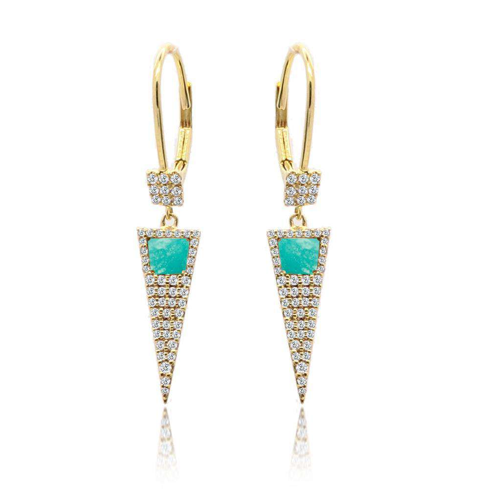 Meira T Amazonite Dagger Earring