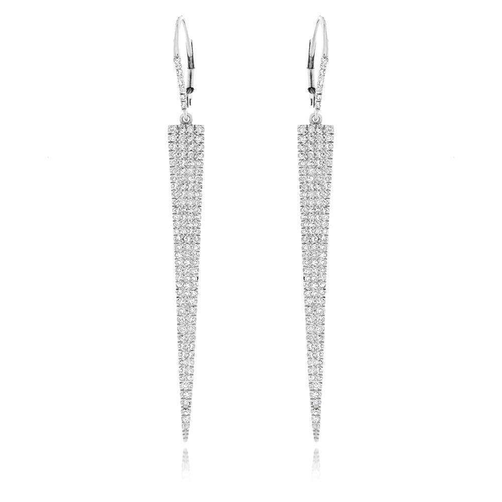 Meira T Pave Diamond Dagger Earrings