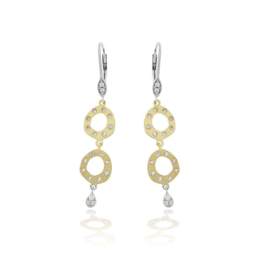 Meira T Brushed Double Earring