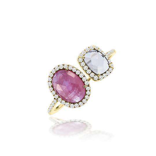 Meira T Opal and Diamond Open Ring