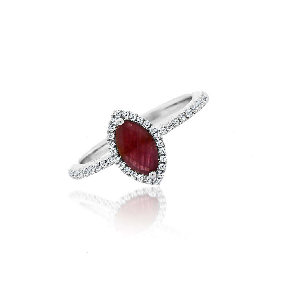 Meira T Ruby & Diamond Ring