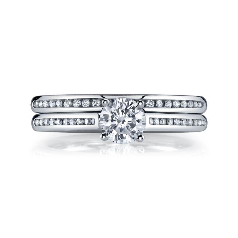 Deutsch Signature Eternity Bridal Set with Channel Set Round Diamonds