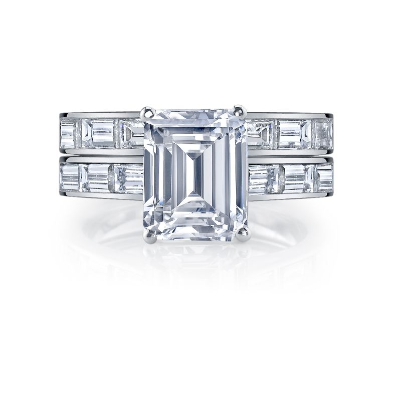 Deutsch Signature Eternity Bridal Set with Channel Set Baguette Diamonds