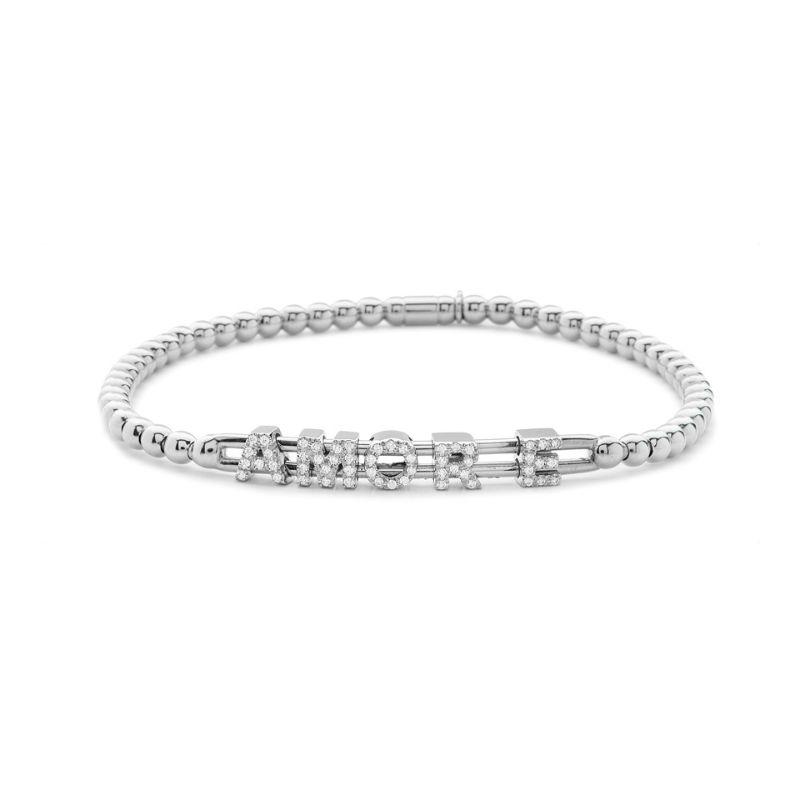 Hulchi Belluni Tresore Bracelet, 18K White Gold Amour