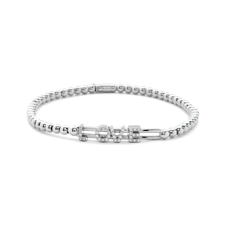 Hulchi Belluni Tresore  Bracelet, 18K White Gold Love
