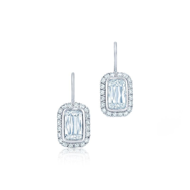 Kwiat Drop Silhouette Diamond Earrings