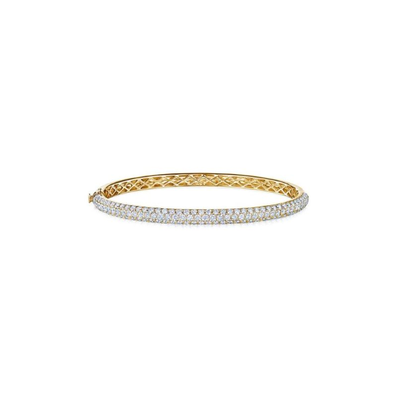 Kwiat Three Row Pave Diamond Bangle