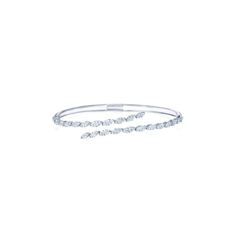 Kwiat Eclipse Marquise Diamond Bypass Bangle