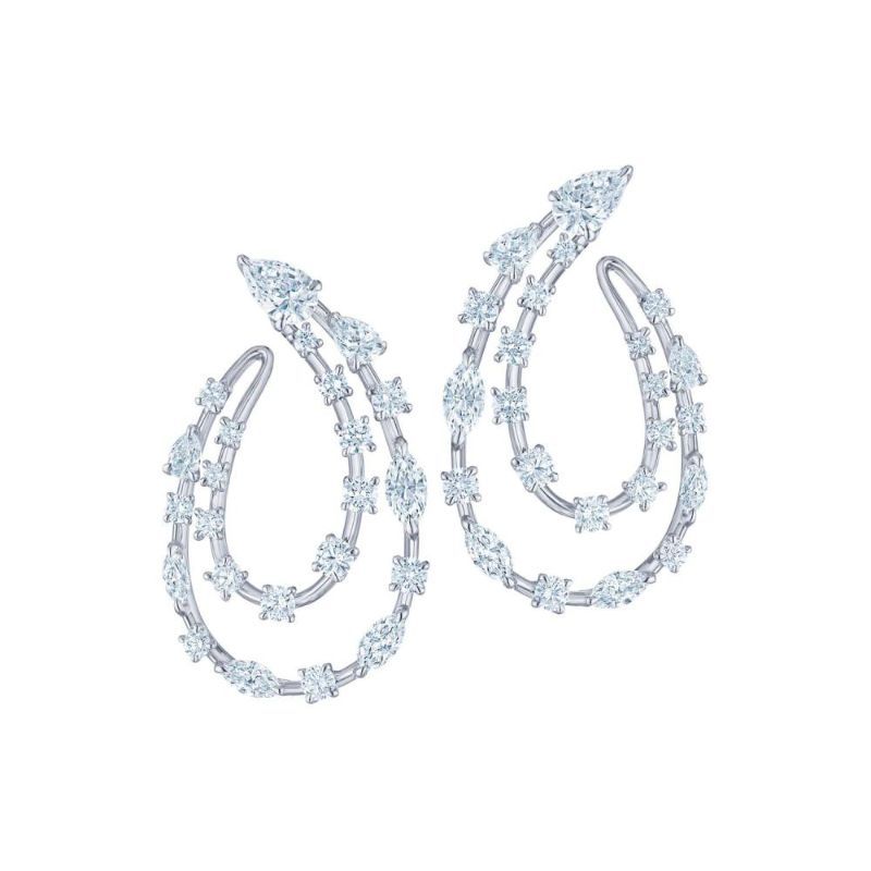 Kwiat Starry Night 2 Row Side Hoop Earring