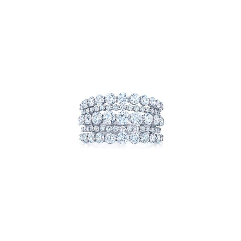Kwiat Eclipse Five Row Round Diamond Ring