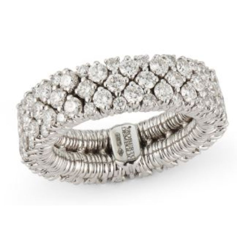 2 Row Diamond Stretch Ring