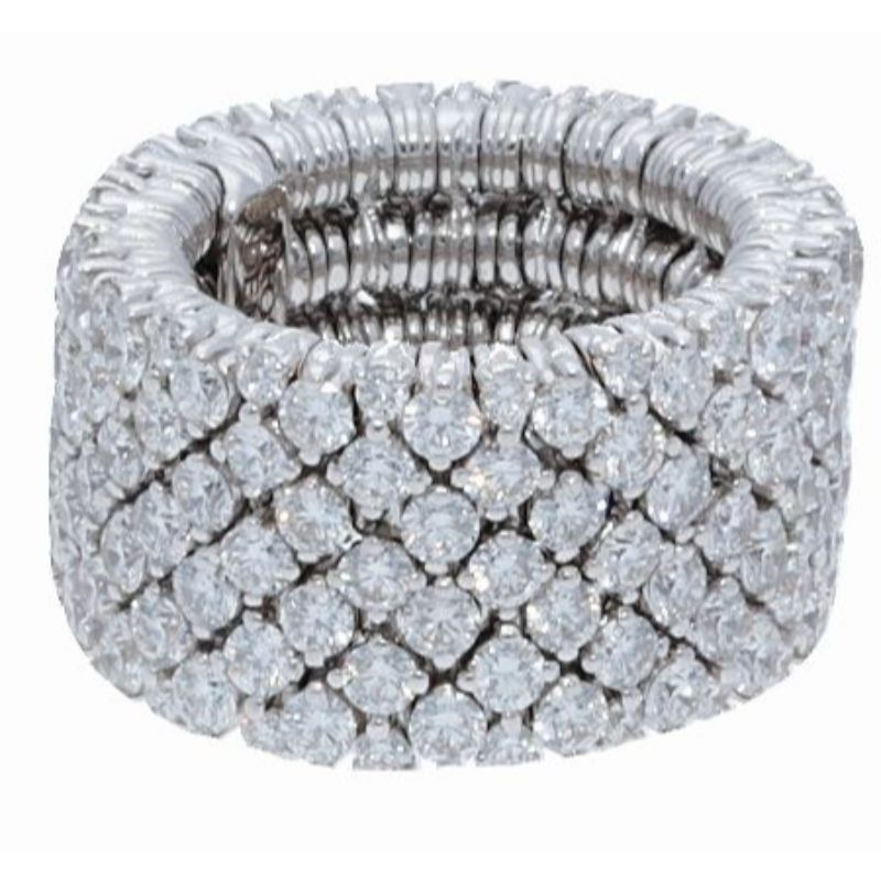 4 Row Diamond Stretch Ring