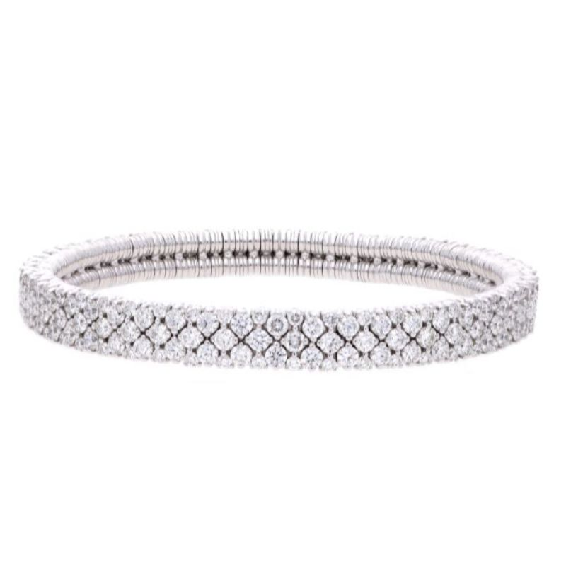 2 Row Diamond Stretch Bracelet