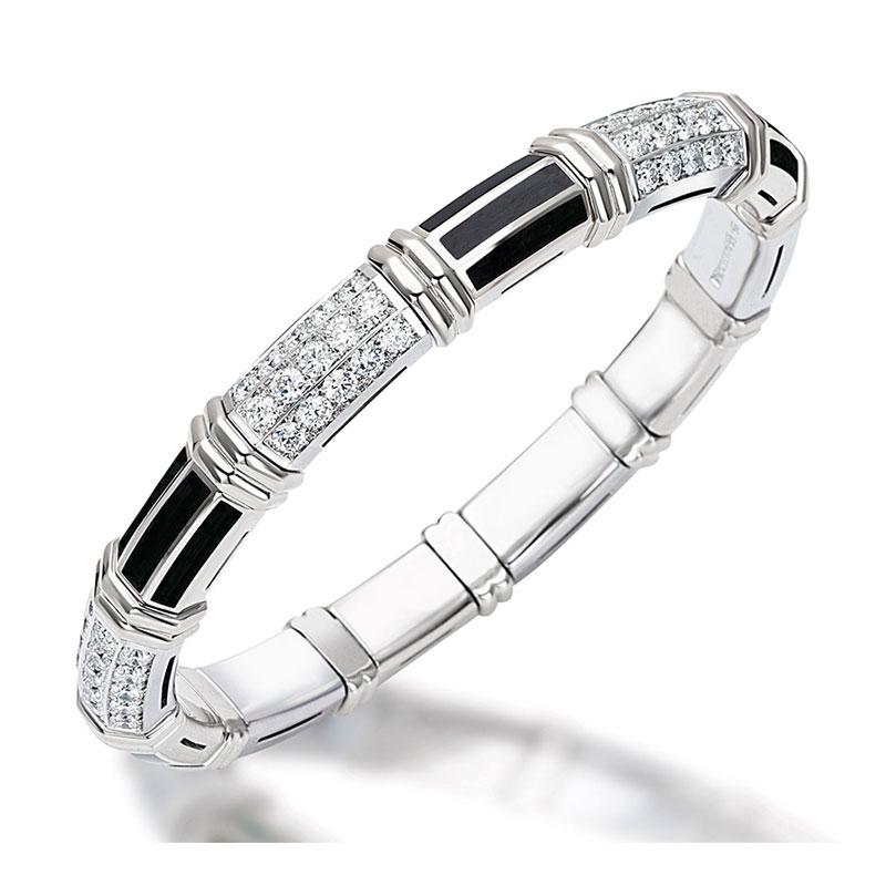 Xpandable™ White Gold Onyx Bracelet