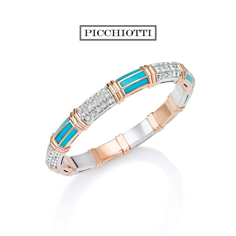 Xpandable™ Rose Gold Turquoise Bracelet