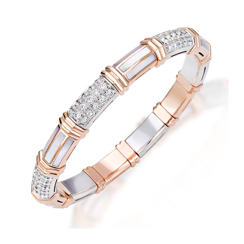 Xpandable™ Rose Gold WMother of Pearl Bracelet