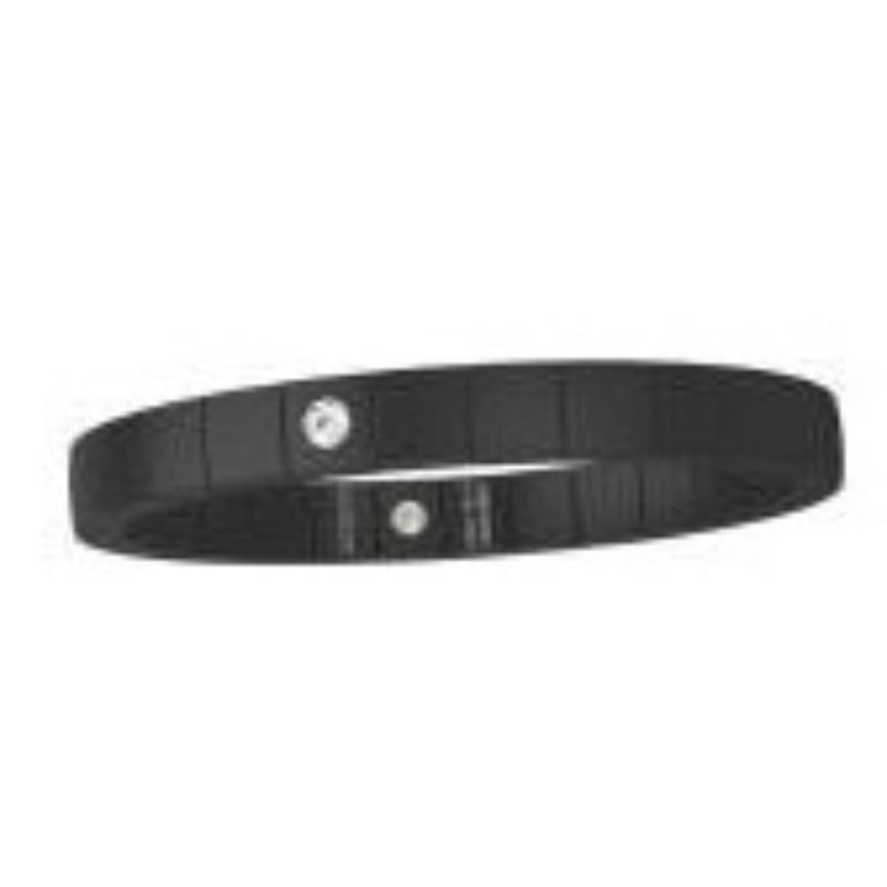 Matte Black Ceramic Stretch Bracelet with 1 Diamond Bezel